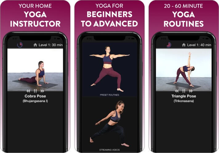 simply yoga - home instructor iphone and ipad stretching app screenshot