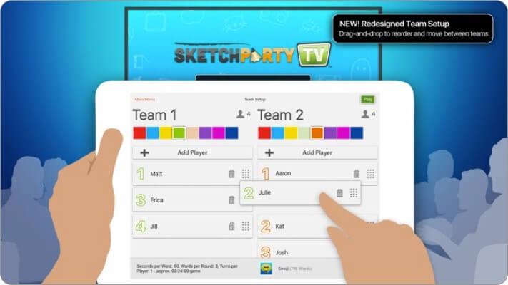 sketchparty tv apple tv game screenshot