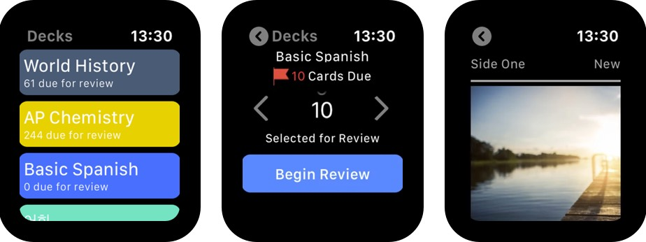 Smartcards Spaced Repetition Apple Watch App Screenshot