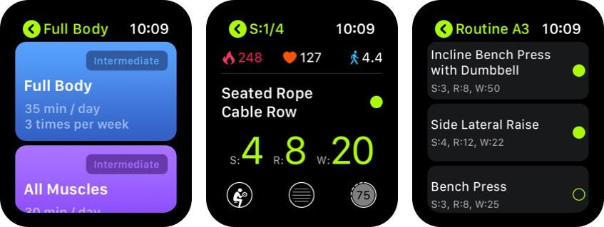 smartgym apple watch health app screenshot