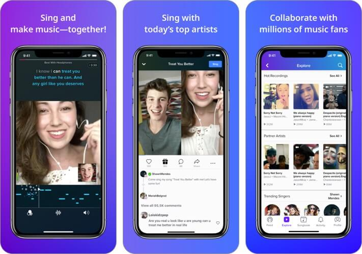 smule iphone and ipad karaoke app screenshot