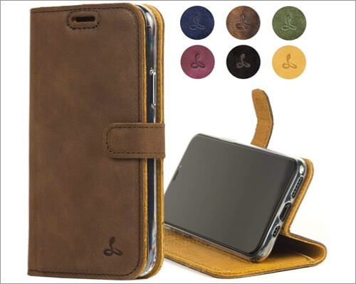 snakehive iphone 11 pro genuine leather wallet case
