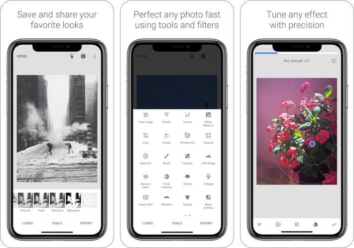 Snapseed iPhone and iPad Food Photography App Screenshot