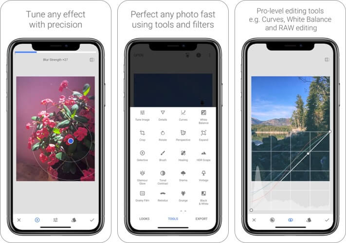 Snapseed RAW Photo Editing iPhone and iPad App Screenshot