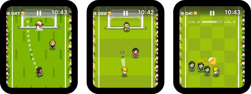 soccer dribble cup apple watch game screenshot