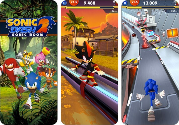 Sonic Dash 2 iPhone and iPad Action Game Screenshot
