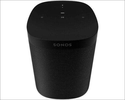 sonos one voice controlled airplay 2 supported smart speaker