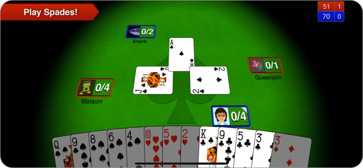 Spades + iPhone and iPad Card Game Screenshot