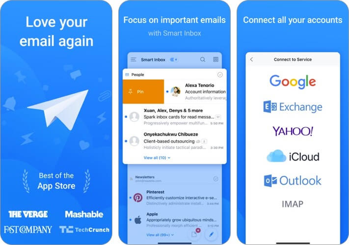 spark mail iphone and ipad email app screenshot