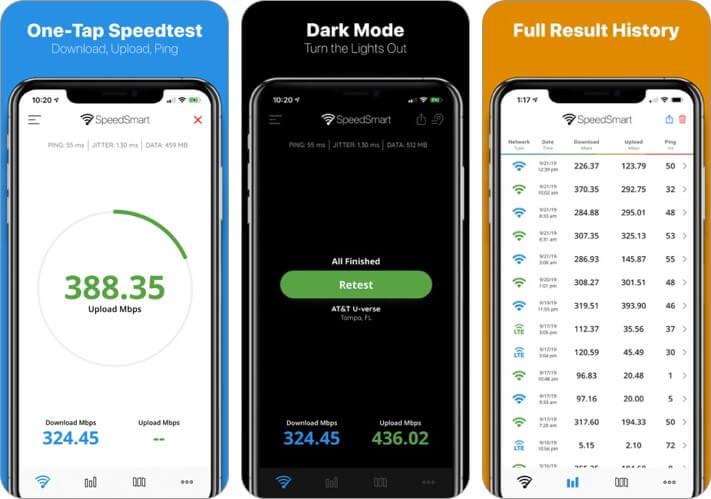 speed test speedsmart iphone and ipad wifi analyzer app screenshot