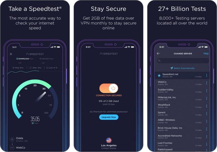 speedtest by ookla iphone and ipad wifi analyzer app screenshot