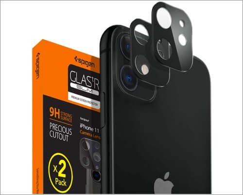 spigen camera lens screen protector for iphone 11, 11 pro and 11 pro max