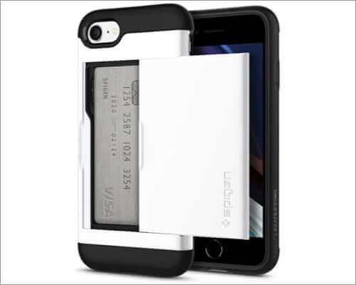 spigen iphone se 2020 card holder case