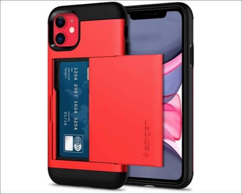 spigen slim card holder case for iphone 11