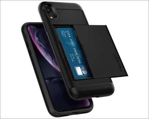 spigen slim card holder case for iphone xr