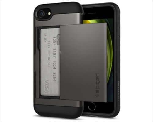 spigen slim iphone se 2020 wallet case