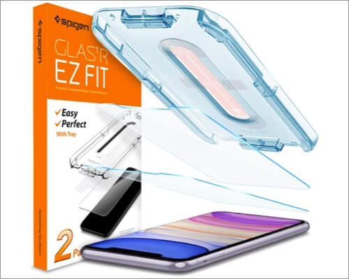 spigen tempered glass screen protector for iphone xr