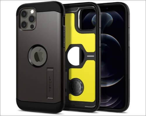Spigen Tough Armor Kickstand Case for iPhone 12 Mini and 12 Pro Max