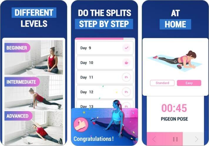 splits training iphone and ipad stretching app screenshot