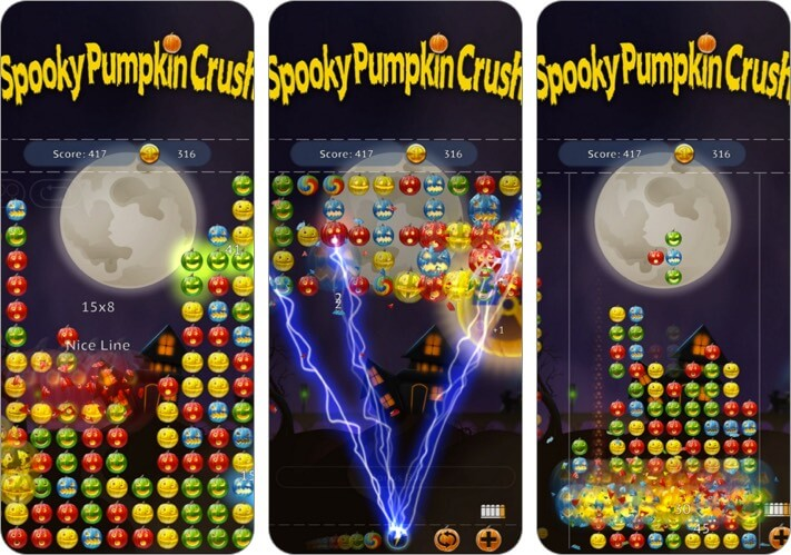 Spooky House Halloween burst iPhone and iPad Game Screenshot