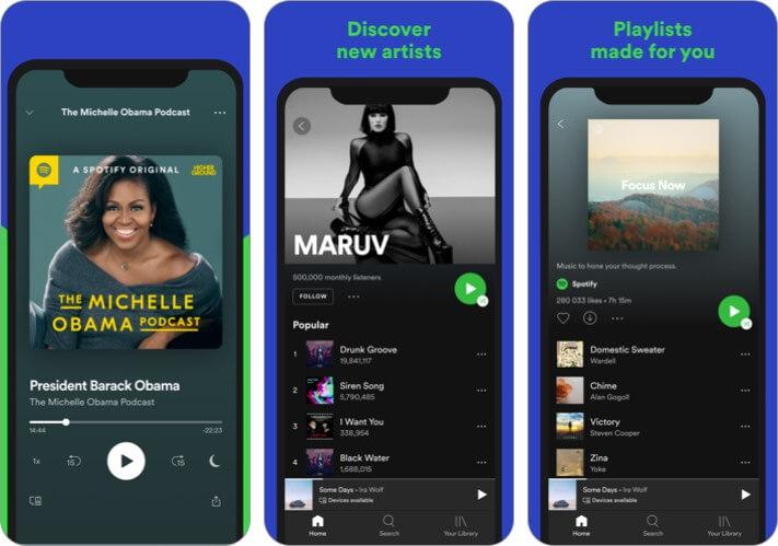 Spotify iPhone CarPlay App Screenshot