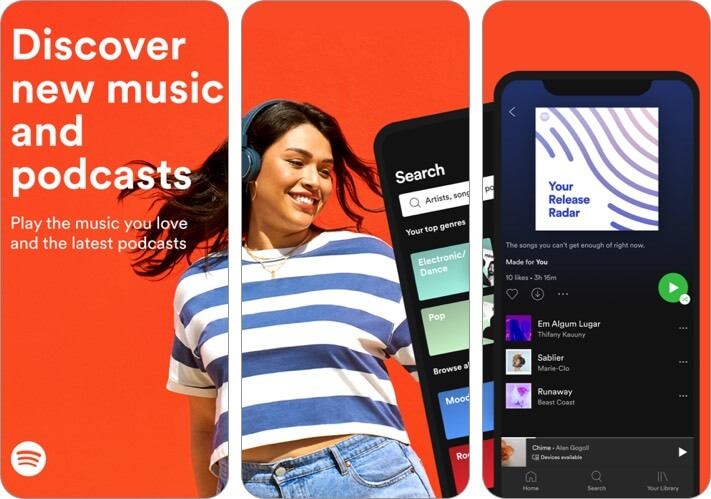 spotify music streaming iphone and ipad app screenshot