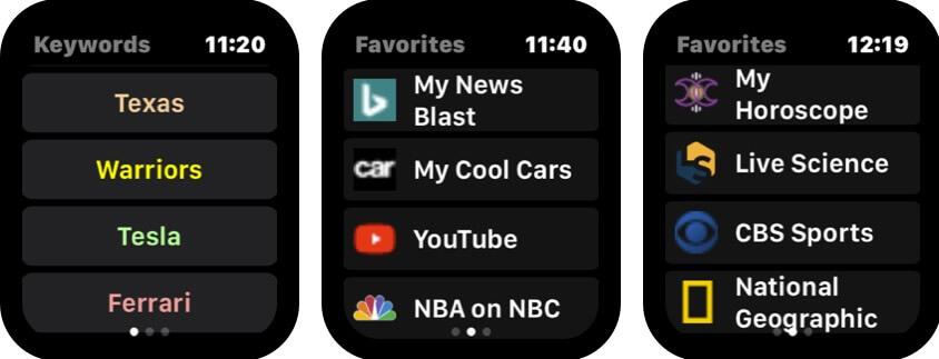squint ai apple watch browser app screenshot
