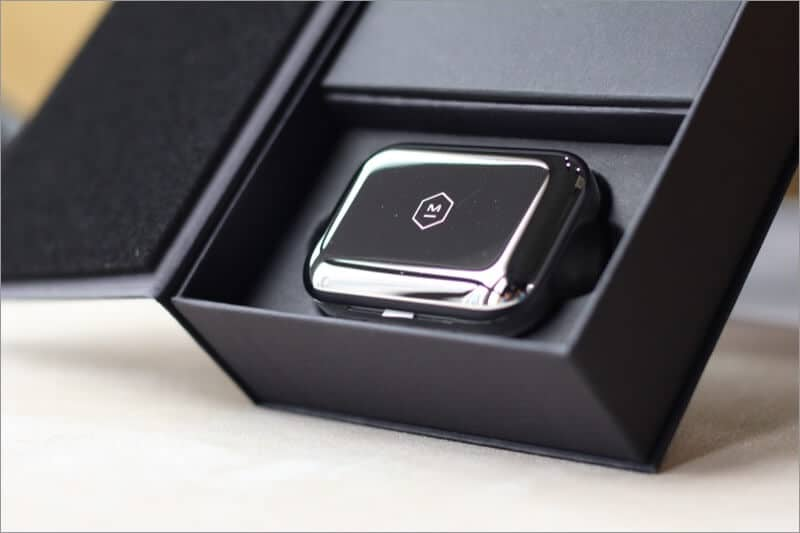 stainless steel case of mw07 plus wireless earbuds