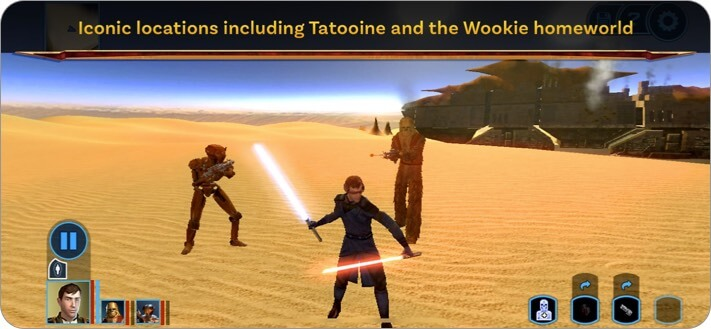 Star Wars KOTOR iPhone and iPad RPG Game Screenshot