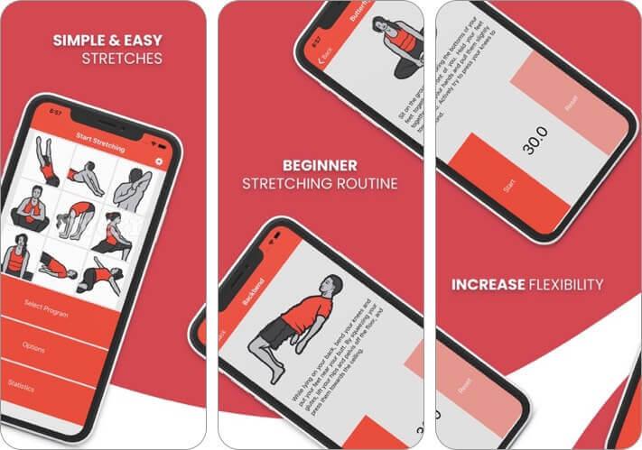 start stretching iphone and ipad app screenshot
