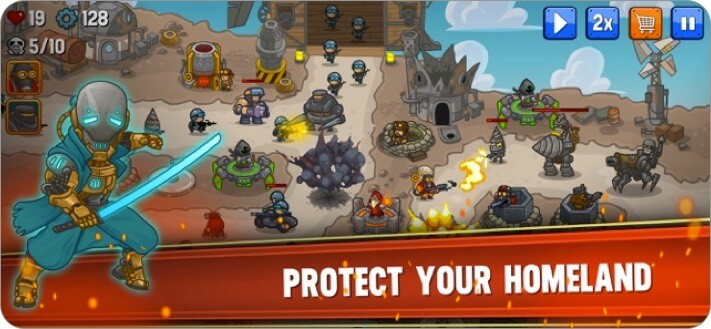 steampunk defence iphone and ipad game screenshot