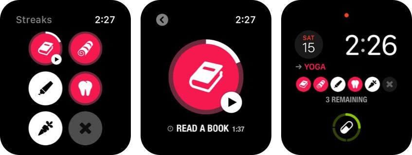 streaks apple watch health app screenshot