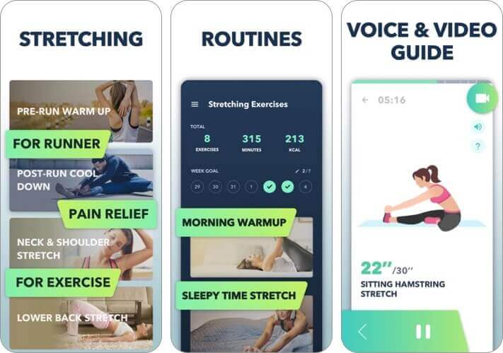 stretch & flexibility at home iphone and ipad app screenshot