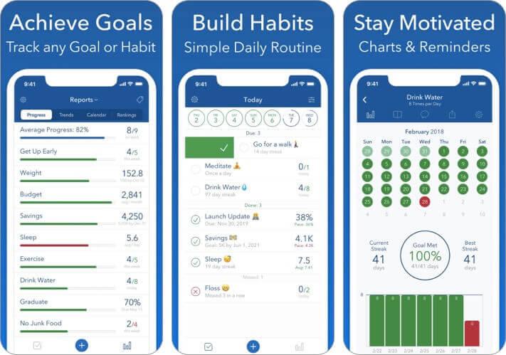 strides goal habit tracker iPhone and iPad App Screenshot