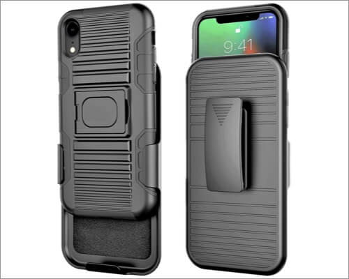 stronden iphone xr belt clip case