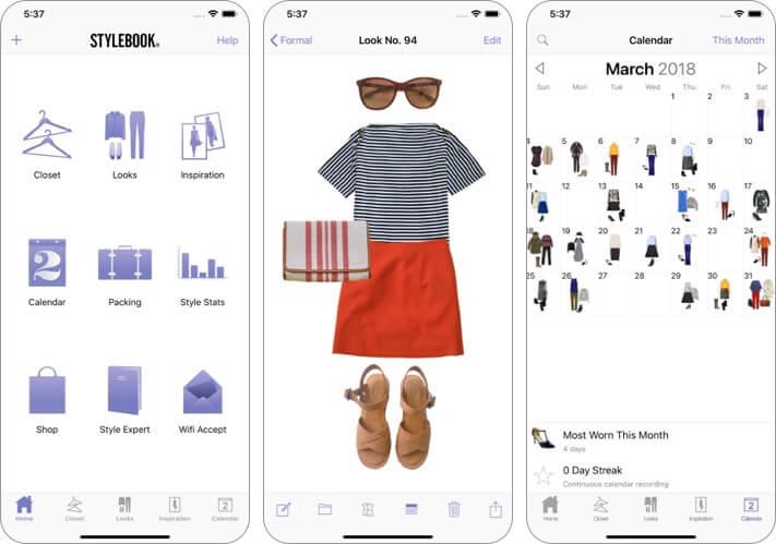 stylebook iphone and ipad app screenshot