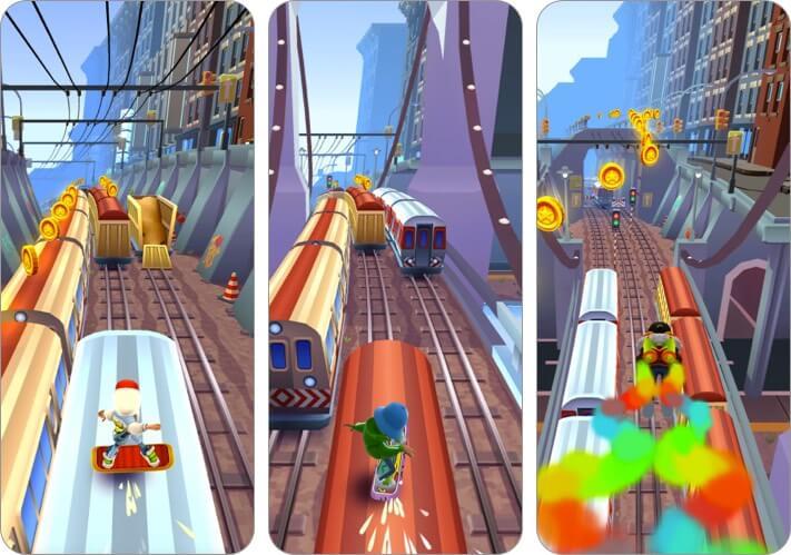 subway surfers iphone and ipad game screenshot