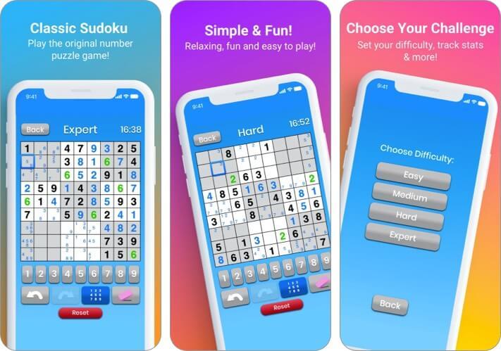 Sudoku by Maple Media iPhone and iPad Game Screenshot