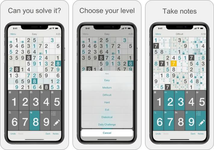 Sudoku by Mind The Frog iPhone and iPad Game Screenshot