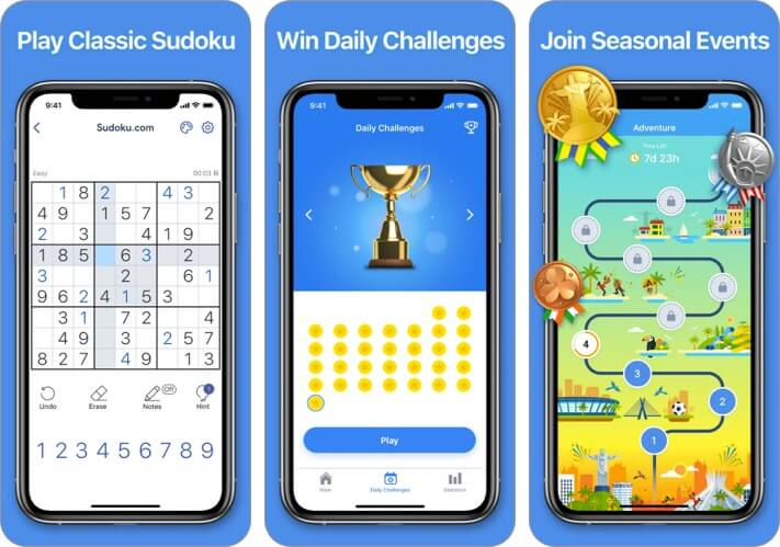 Sudoku.com iPhone and iPad Game Screenshot