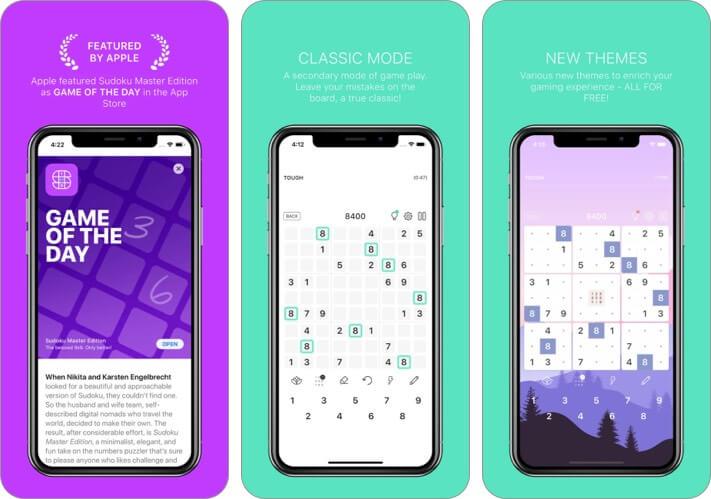 Sudoku Master Edition iPhone and iPad Game Screenshot