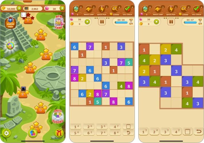 Sudoku Quest Color Soduku Game iPhone and iPad Game Screenshot
