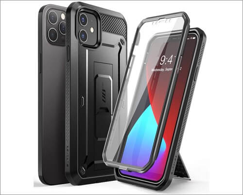SUPCASE Unicorn Beetle Series Belt Clip Case for iPhone 12 Pro Max and 12 Mini