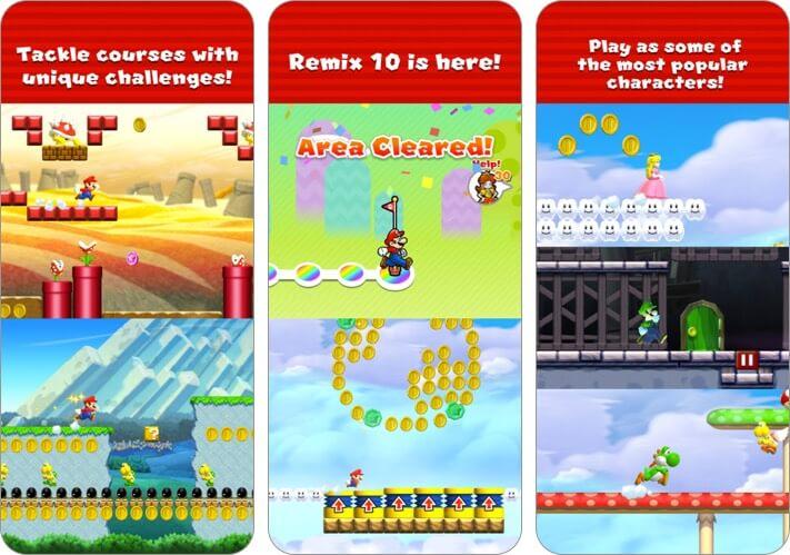 Super Mario Run iPhone and iPad Action Game Screenshot