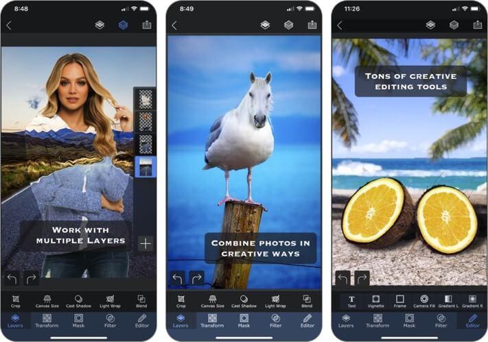 superimpose x iphone and ipad photo editing app screenshot