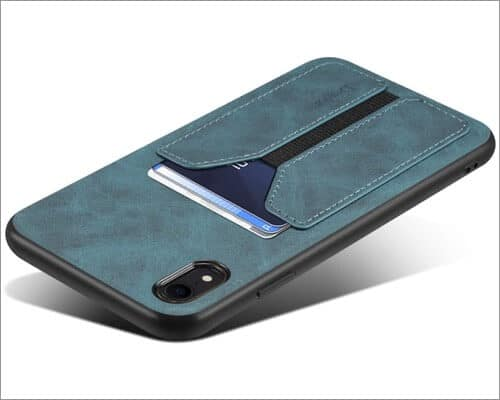 suteni iphone xr case with card holder
