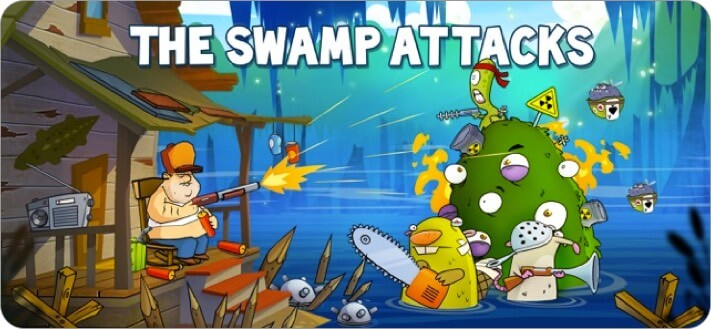 swamp attack iphone and ipad tower defense game screenshot