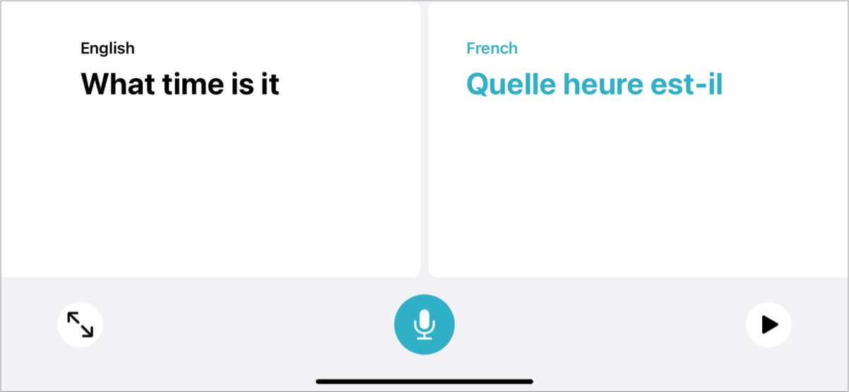 switch to conversation mode on translate app in ios 14