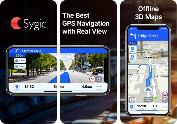 sygic iphone and iphone offline map app screenshot