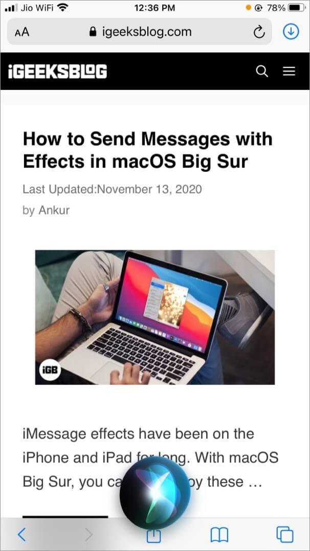 Take Screenshot on iPhone Using Siri